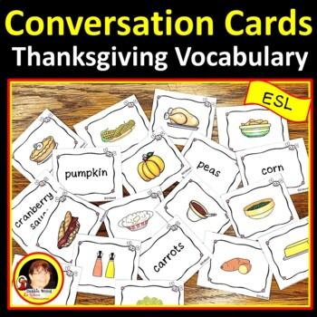 ESL Thanksgiving Activities | ESL Thanksgiving Food Conversation Cards