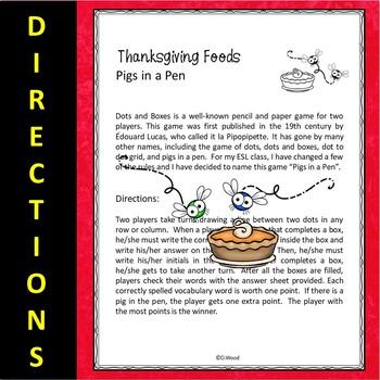 ESL Thanksgiving Activities | ESL Thanksgiving Games