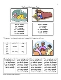 ESL The Present Continuous Tense Practice Booklet
