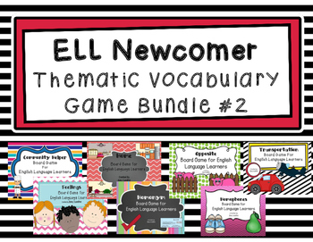 ESL Thematic Vocabulary Games Bundle 2