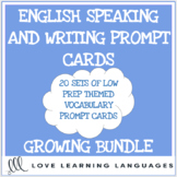ESL Themed Vocabulary Speaking and Writing Prompts - GROWING BUNDLE