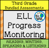 ESL Third Grade Progress Monitoring, BUNDLE (Writing, List