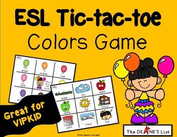 ESL Tic-tac-toe Colors Game