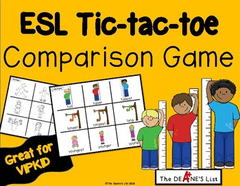 ESL Tic-tac-toe Comparison Game