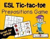 ESL Tic-tac-toe Prepositions Game