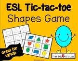 ESL Tic-tac-toe Shapes Game
