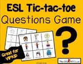 ESL Tic-tac-toe Questions Game