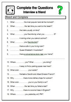 ESL Timesaver BUNDLE 1 - 100 NO PREP EFL Worksheets for Busy English Teachers