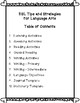 ESL Tips and Strategies for Language Arts