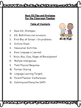 Basic ESL Tips and Strategies for the Classroom Teacher