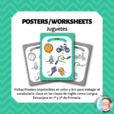 ESL Toys vocabulary posters for years 1 & 2