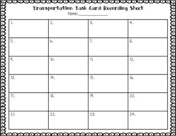 ESL Transportation Task Cards