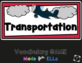 ESL Transportation Vocabulary Board Game