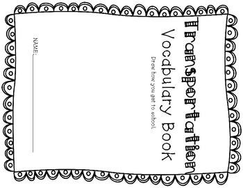 ESL Transportation Vocabulary Flip Books