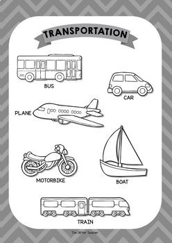 ESL Transportation vocabulary posters for years 1 & 2