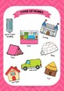 ESL Types of houses vocabulary posters for years 3 & 4