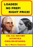 ESL U.S. HISTORY ACTIVITIES (END OF YEAR / YEAR-ROUND; MUCH SPANISH)