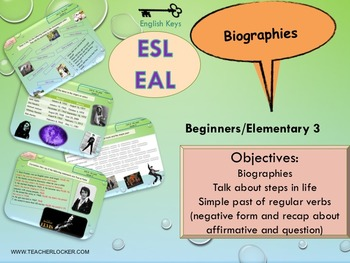 ESL Simple past and life events printables and interactive activities