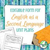 ESL Unit/Lesson Plan ***Editable & WIDA Standards Based***