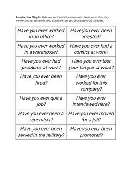 ESL Unit on Job Hunting and Interviews