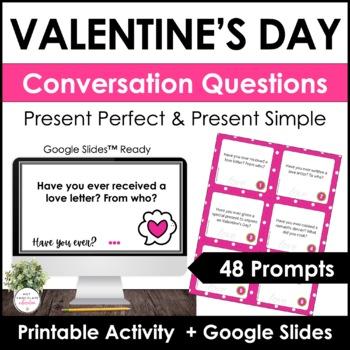 ESL - Valentine's Day Conversation Questions - 48 cards