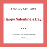 Valentine's Day Lesson Plan (Vocabulary, History, Grammar, Card Writing)