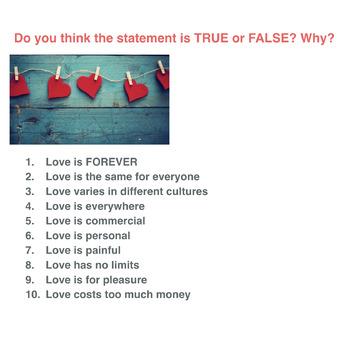 Valentine's Day Lesson Plan (Vocabulary, History, Grammar, Card Writing)