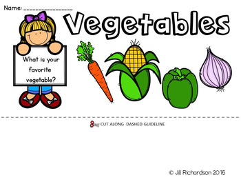 ESL Food Groups:  Vegetables Flip Book!