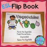 ESL Food Groups:  Vegetables Flip Book! ESL Vocabulary for Beginners