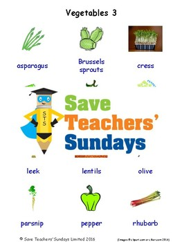 ESL Vegetables Worksheets, Games, Activities & Flash Cards (with audio) 3
