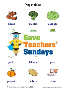 ESL Vegetables Worksheets, Games, Activities and Flash Cards (with audio)
