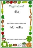 ESL Vegetables Writing Prompt!