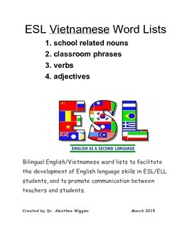 ESL Vietnamese Word Lists and Phrases