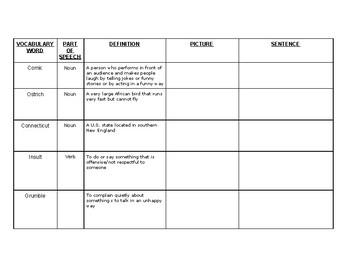 ESL Vocab. worksheet