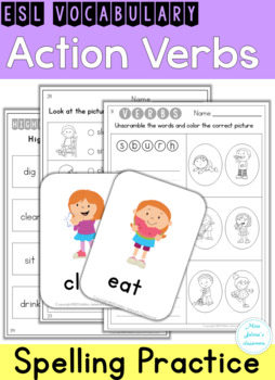 ESL Vocabulary - Action Verbs
