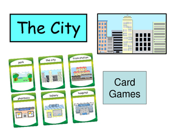 ESL Vocabulary Card Games BUNDLE