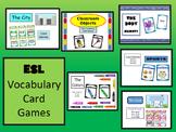 ESL Vocabulary Card Games BUNDLE