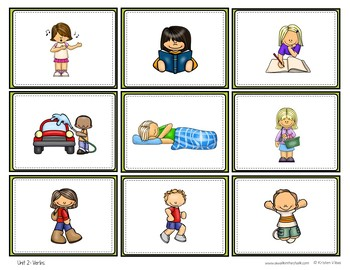 ESL Vocabulary Cards and Sorts Unit 2