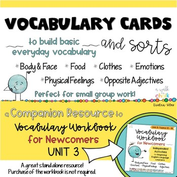 ESL Vocabulary Cards and Sorts Unit 3