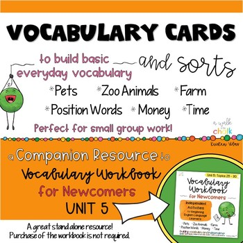 ESL Vocabulary Cards and Sorts Unit 5