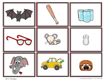 ESL Vocabulary Cards and Sorts Unit 6