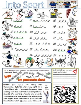 Vocabulary of Sports, really into/do/play/go w/s, PPT, cro