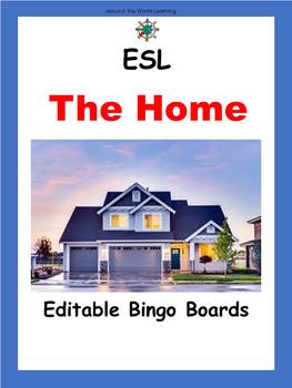 ESL Vocabulary: House Bingo Cards