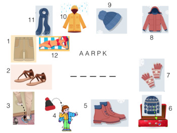 "ONLINE ESL Vocabulary Lesson | A2 Clothes — ""Packing for a Holiday"""