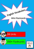 ESL Vocabulary Mini Flashcard Set (24 Units)