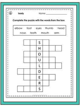 ESL Vocabulary Puzzles - Body & Illness