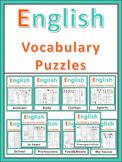 ESL Vocabulary Puzzles  Bundle