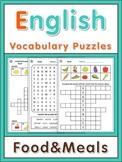 ESL Vocabulary Puzzles  Food & Meals