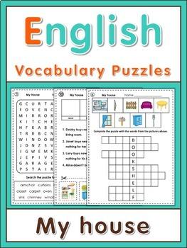 ESL Vocabulary Puzzles  My house