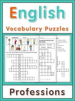 ESL Vocabulary Puzzles  Professions